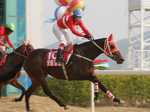 Sangseung Ilro and Eiki Nishimura win the KRA Cup Mile in 2009 (Pic: KRA)