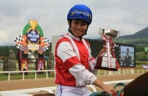 Na Yu Na after winning the Jeju Cup (KRA)