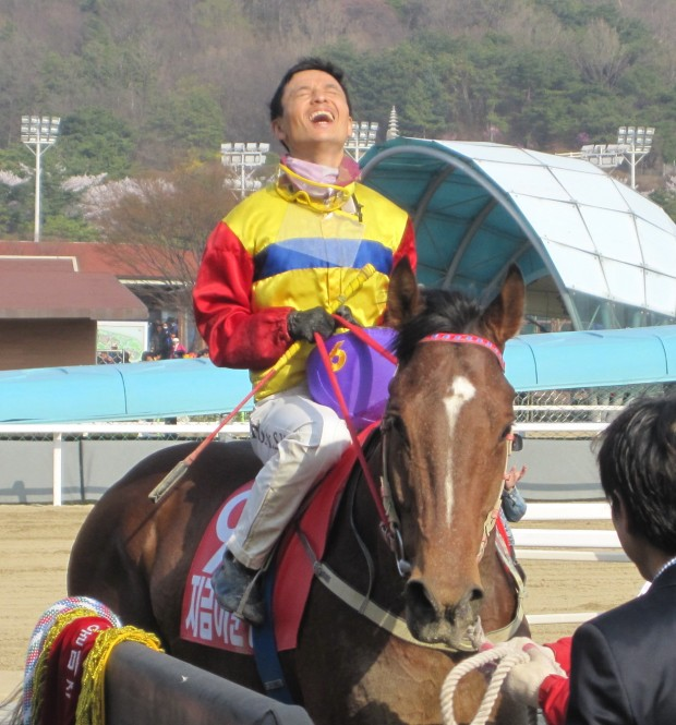 Champion jockey Moon Se Young rode Jigeum I Sungan in all his big races