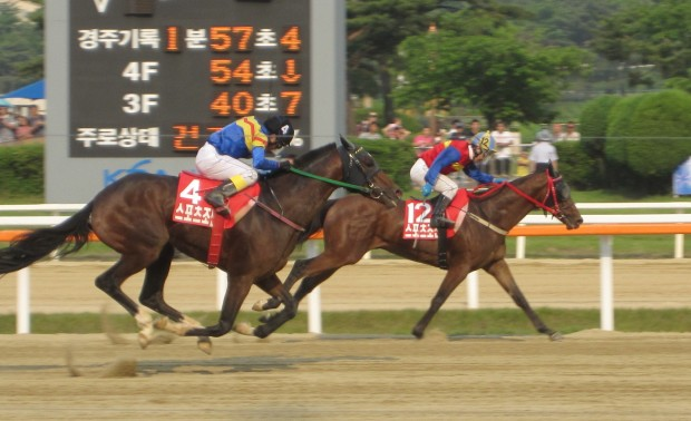 Gumanseok just hokds on as Royal Galloper closes fast