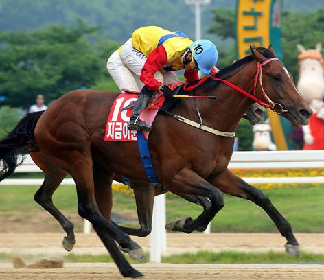 Jigeum I Sungan and Moon Se Young win the Jeju Governor's Cup (Picture: KRA)