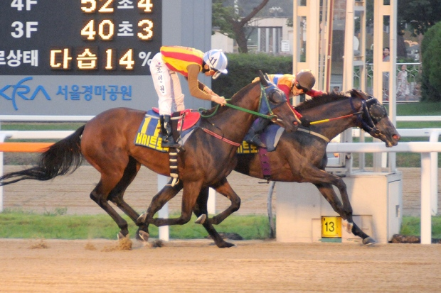 Eutteum Khan (far side) and Moon Se Young, win the HRI Trophy (Pic: Ross Holburt)
