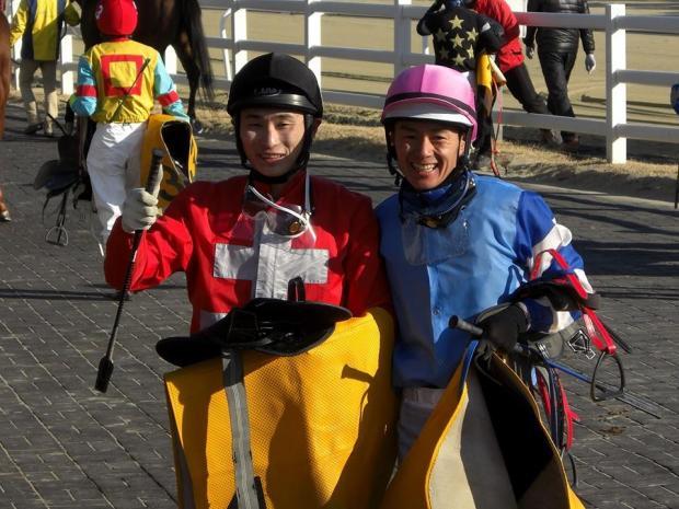 Smiling: Masa Tanaka (left) and Joe Fujii (Pic: Hiromi Kobayashi)