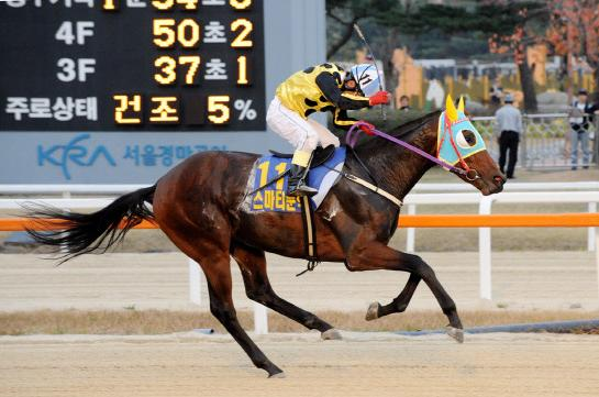 Phenom: Smarty Moonhak wins the TJK Trophy as a 2-year-old (KRA)