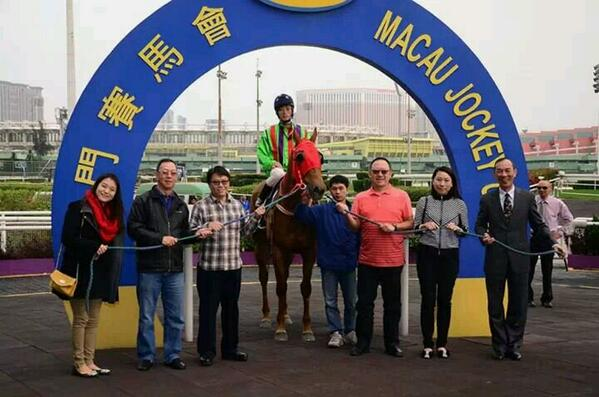 Jo Sung Gon in the Macau Winner's circle (MJC)