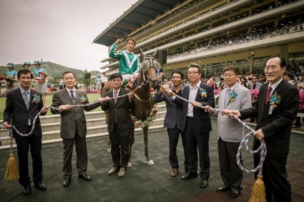 Shinichi Terachi's biggest win in Korea came on Geumbit Hwanhui in the Seoul Oaks Trial (KRA)