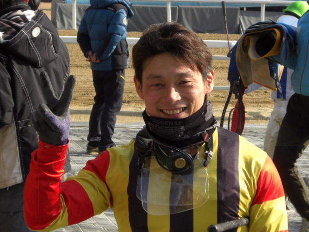 Ikuyasu Kurakane after riding his 100th winner this year at Seoul (Picture: Hiromi Kobayashi)