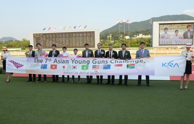 Kim Dong Soo atthe Asian Young Guns Ceremony (Pic: Ross Holburt)