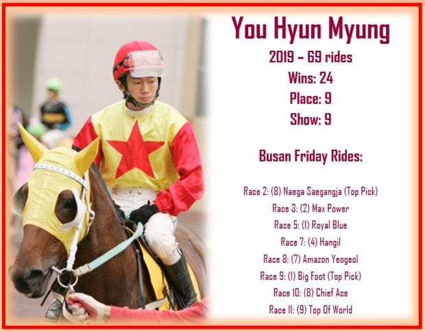 You Hyun Myung rides